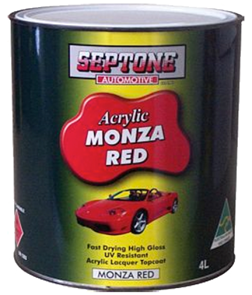 Monza Red Acrylic Paint