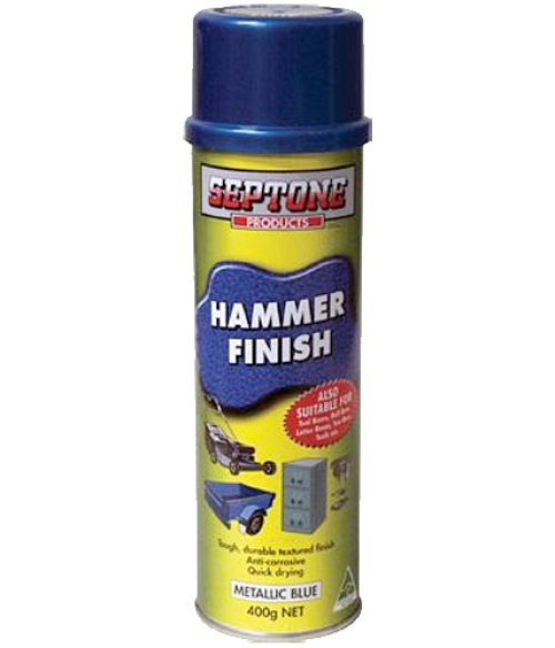septone aerosols aerosol hammer metallic blue. Black Bedroom Furniture Sets. Home Design Ideas